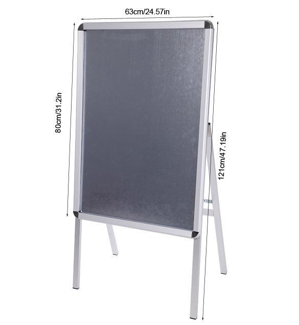 silve adjustable professional poster stand white board