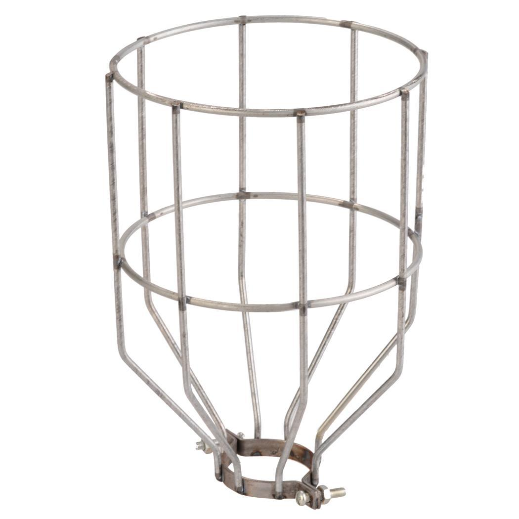 retro wire bulb cage clamp on metal lamp guard trouble light industrial pendant. Black Bedroom Furniture Sets. Home Design Ideas