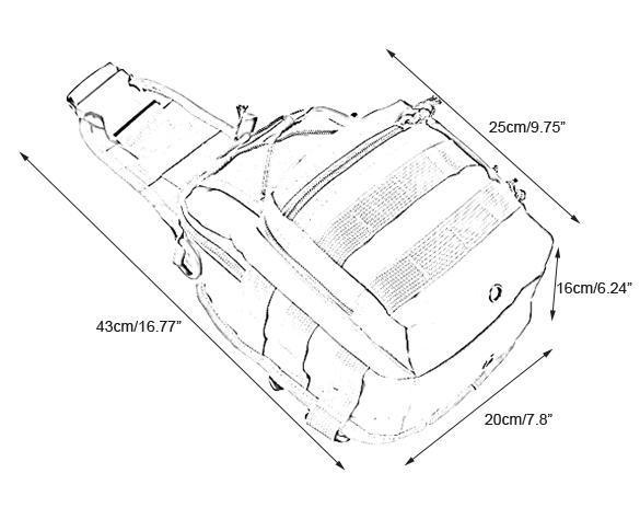 molle tactical sling chest bag assault pack messenger