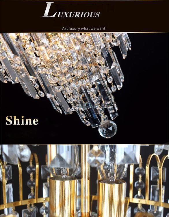 new elegant rhinestone chandelier modern ceiling light lamp pendant