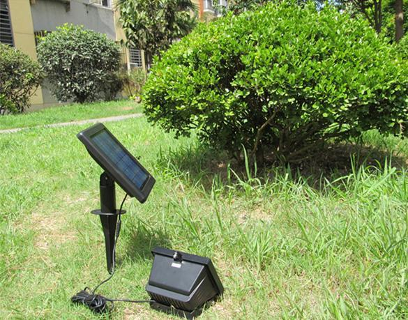 powered spot flood light outdoor garden lawn lamp lighting system