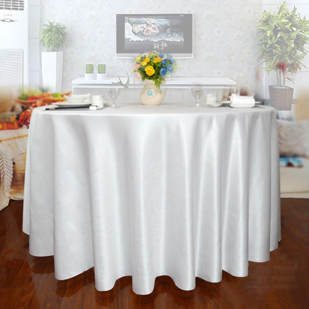 3pcs 120 round polyester natural tablecloth wedding party for 120 inch round table linens