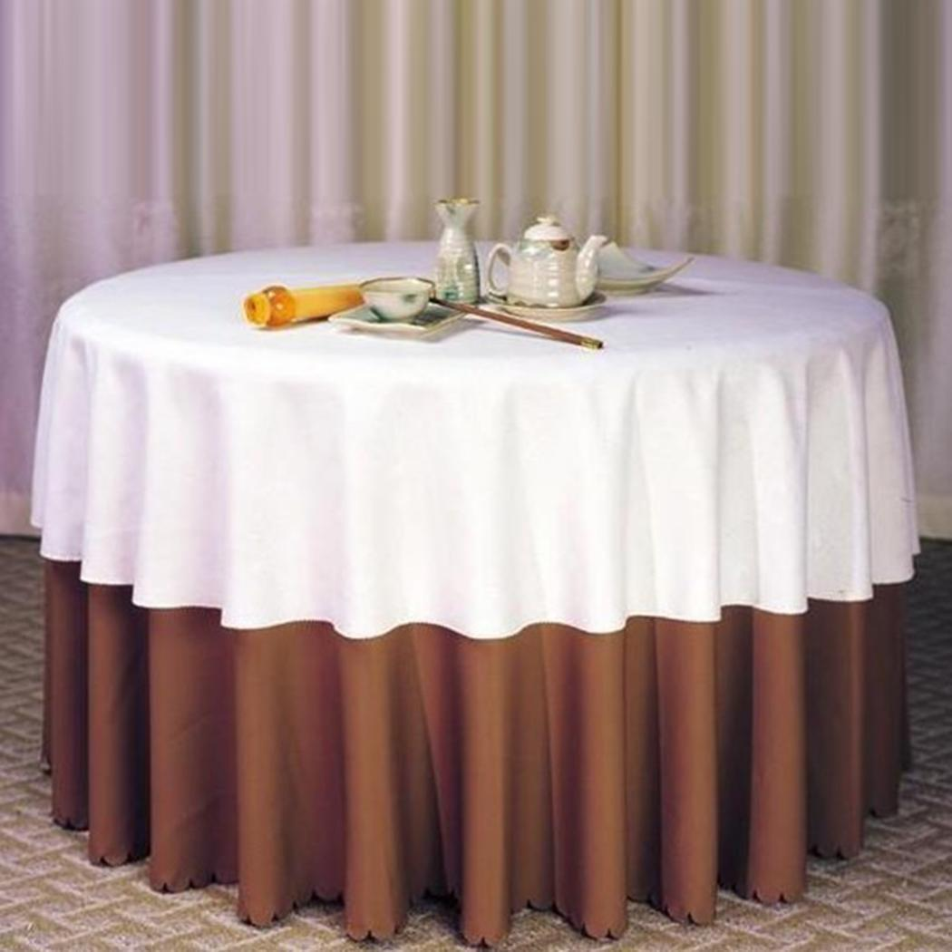 3pcs 120 Round Polyester Natural Tablecloth Wedding Party Table Linens W