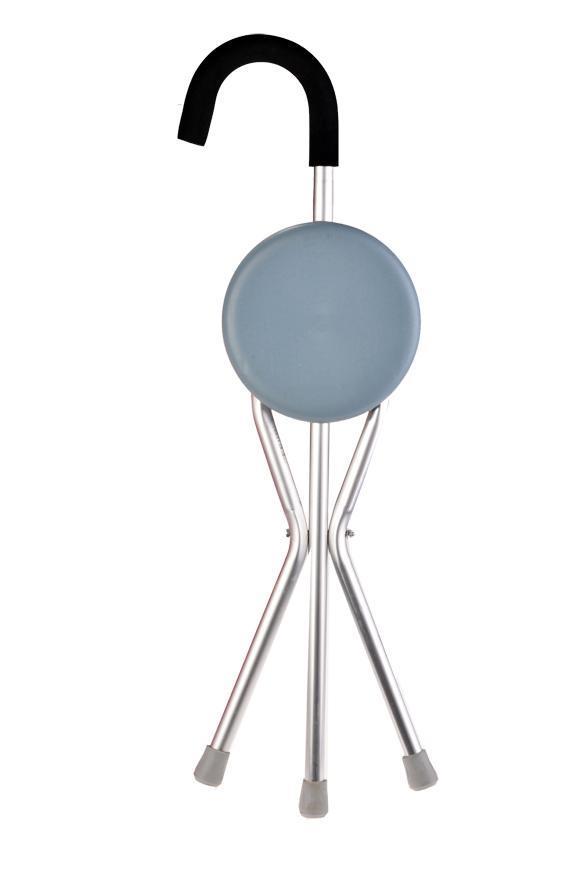 Aluminum Alloy Folding Travel Cane Walking Stick Seat