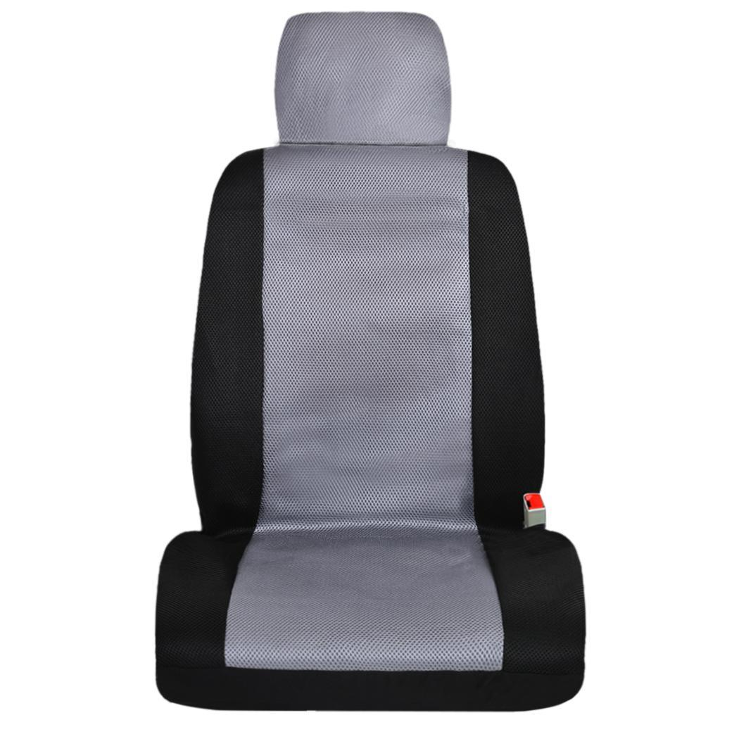 black gray deluxe full set car seat covers for toyota camry corolla prius ebay. Black Bedroom Furniture Sets. Home Design Ideas