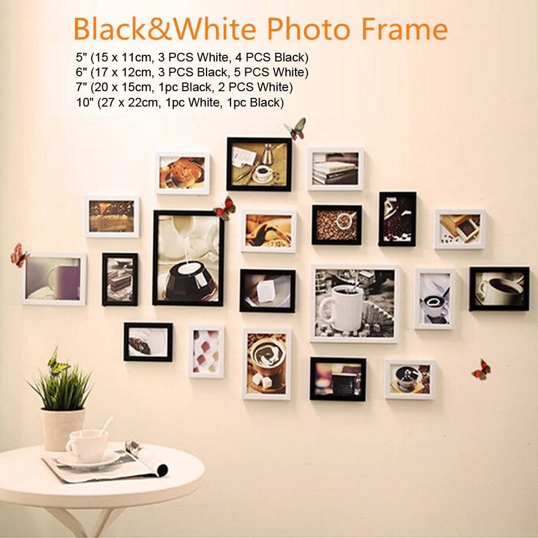 Modern Wall Frame Decor : Pcs picture photo frame set wall mounted hanging modern