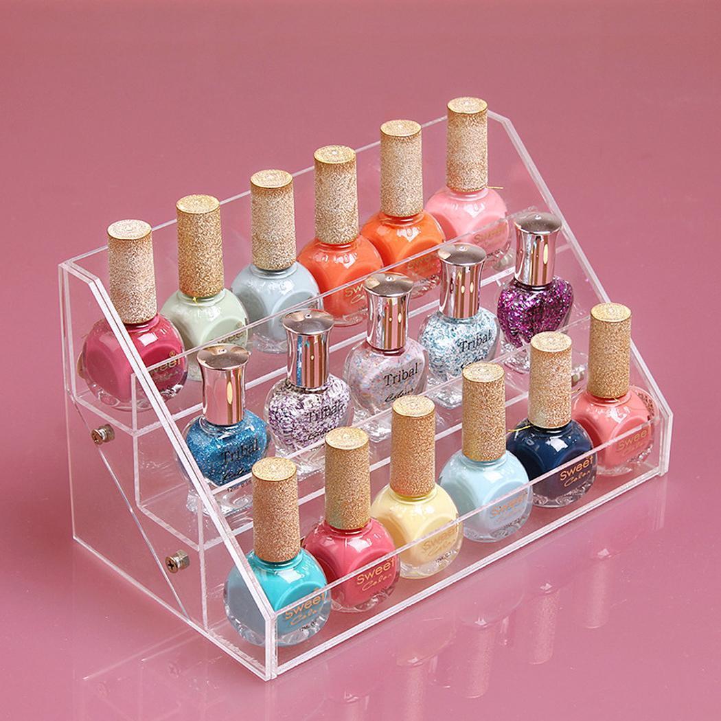 Nail Polish Layers: 30 Bottle Acrylic Nail Polish Makeup Display Organizer