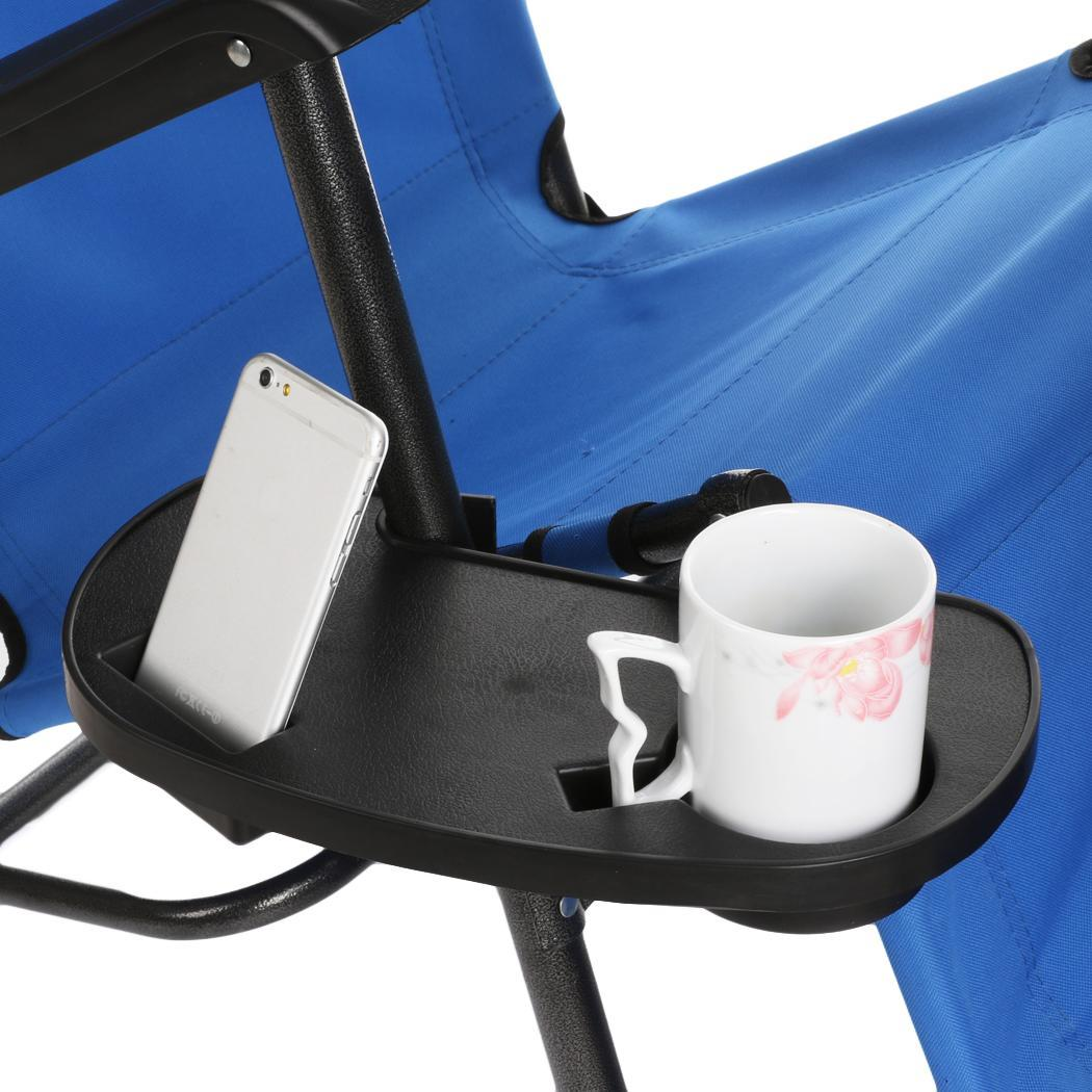 Outdoor Clip On Chair Table Utility Side Tray Patio Cup