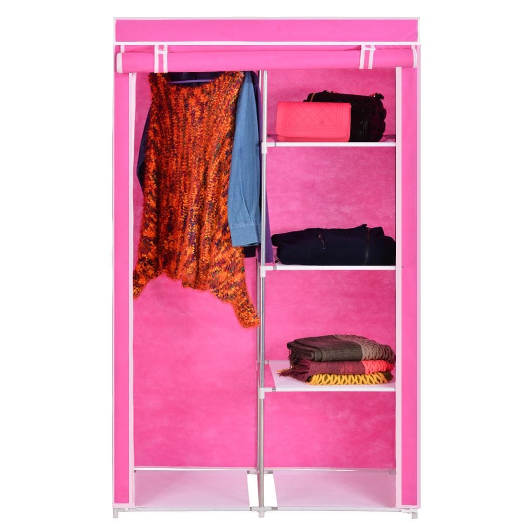 Home DIY Portable Closet Storage Organizer Wardrobe