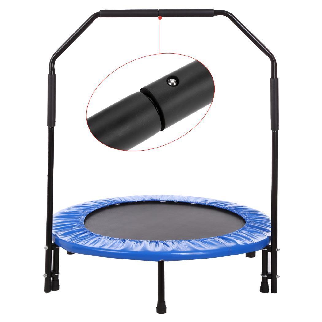 40 Inch Rebounder Trampoline Workout Folding Bar Included