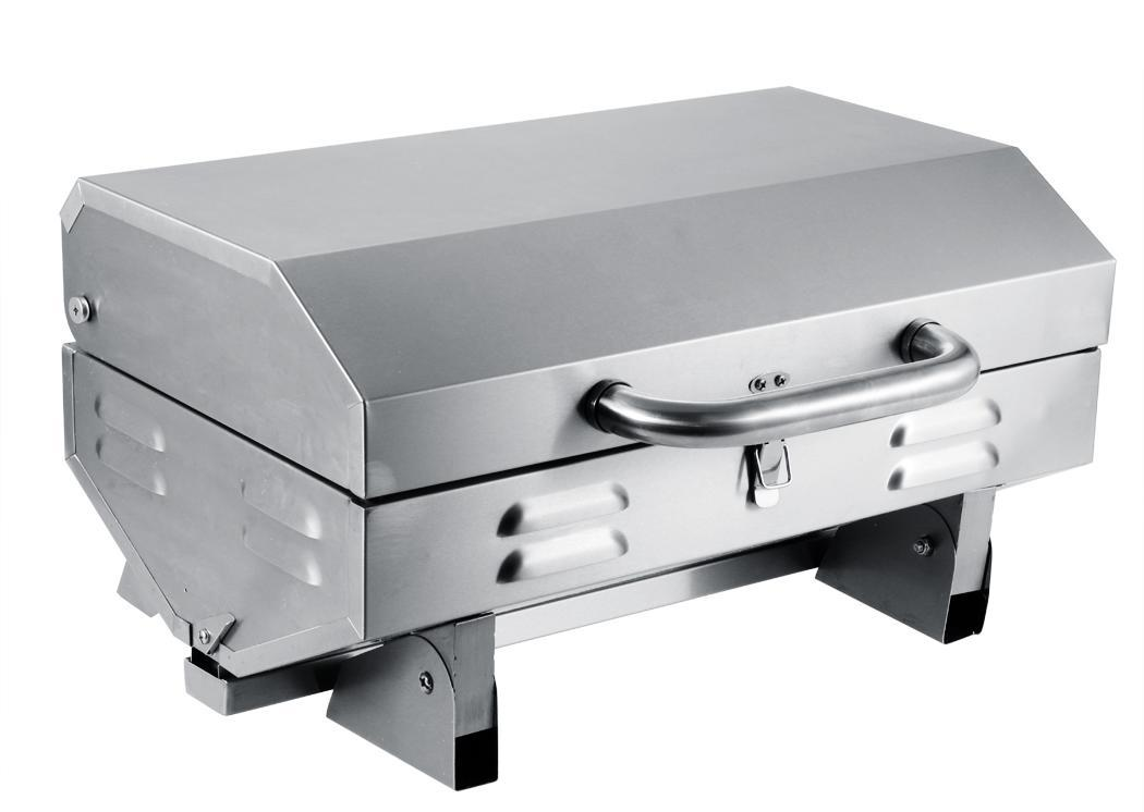Durable portable gas grill stainless steel tailgate