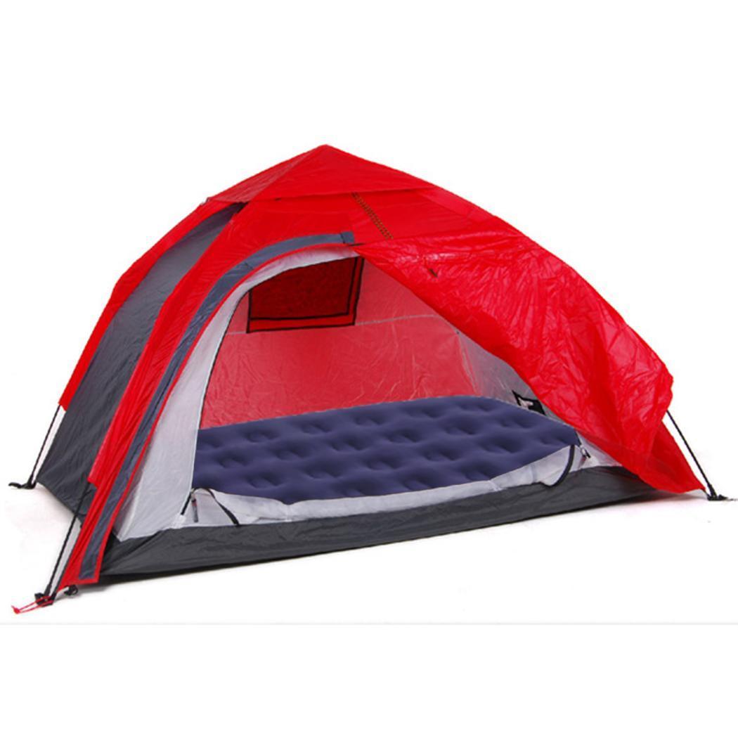 Portable Air Bed Anti slip Flocked Mattress Airbed