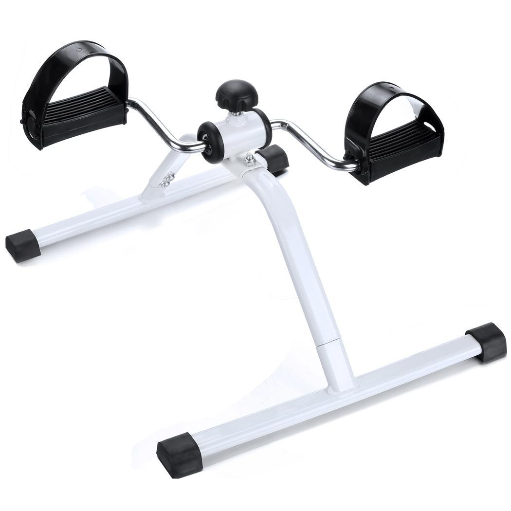 Exercise Bike Portable: Mini Pedal Exerciser Cycle Fitness Indoor Gym Legs Arms