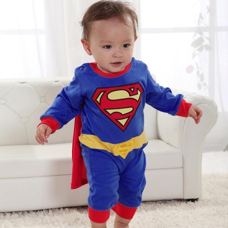 b b gar on fille d guisement superman costume superbaby super h ros combinaison grenouill re. Black Bedroom Furniture Sets. Home Design Ideas