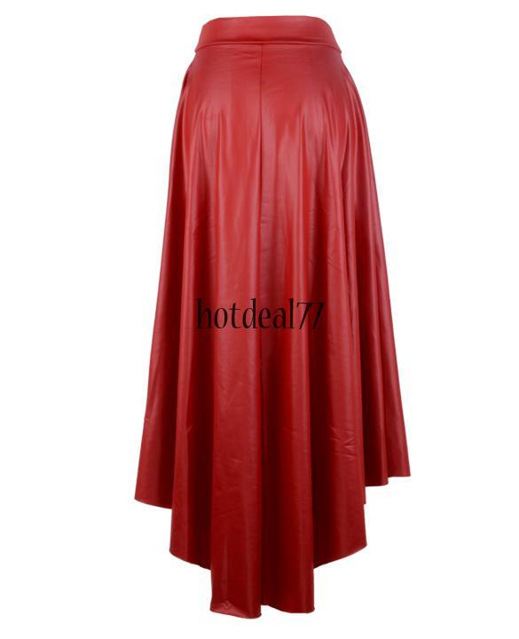 plus size high low high waist xl l faux leather pleather