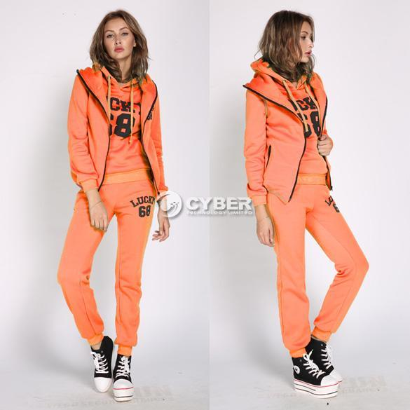 2013 autumn and winter womens sports suits casual clothing set thick