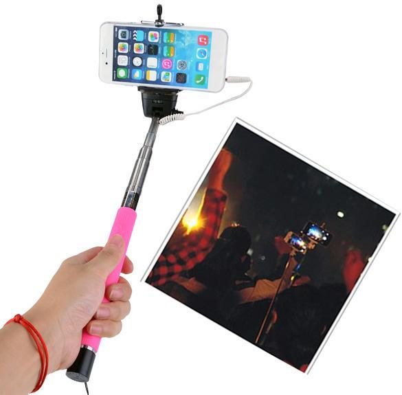 cyber audio cable take pole extendable handheld selfie monopod stick rod for iphone samsung. Black Bedroom Furniture Sets. Home Design Ideas