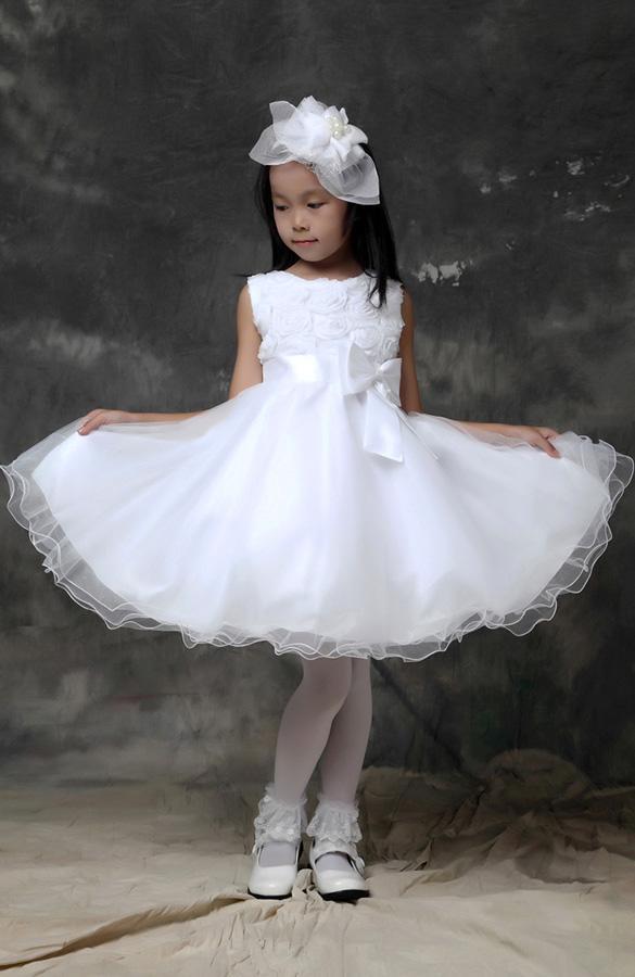 Colors christmas wedding bridal bridesmaid organza kids 3d rose