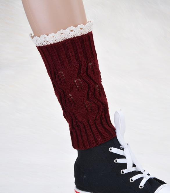 Cyber Girls Kids Warm Knit Boot Cuffs Lace Boot Toppers ...