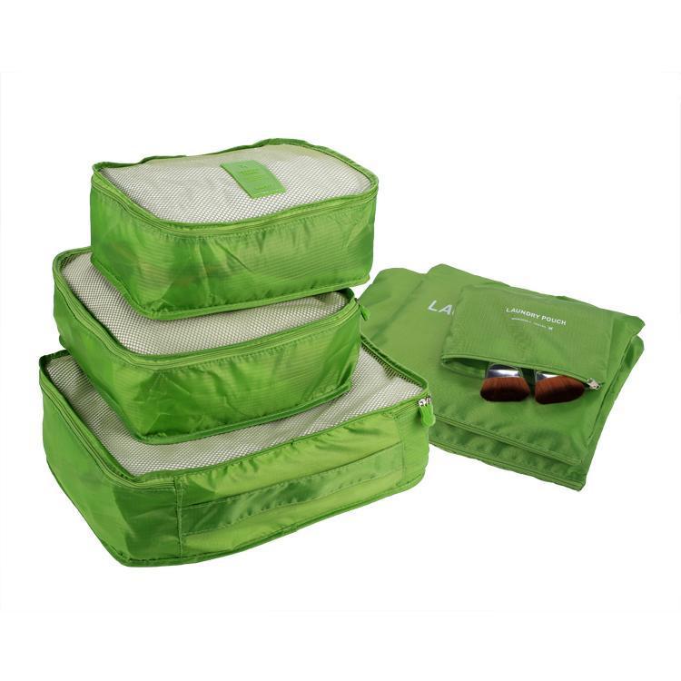 6pcs sac housse de rangement set de sac voyage pochette voyage bagage organisateur valise. Black Bedroom Furniture Sets. Home Design Ideas
