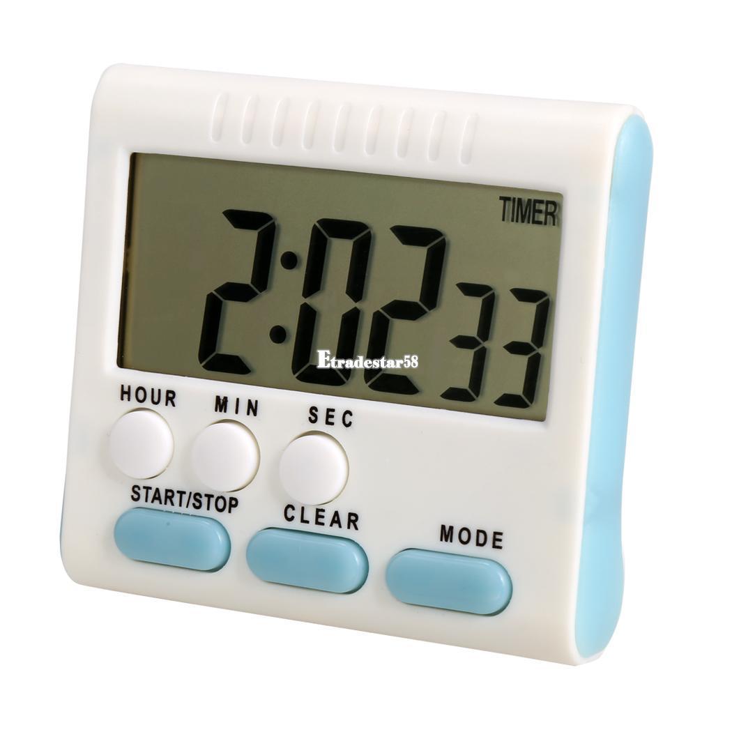 lcd digital countdown k chenuhr alarm uhr kitchen timer stoppuhr k chenwecker ebay. Black Bedroom Furniture Sets. Home Design Ideas