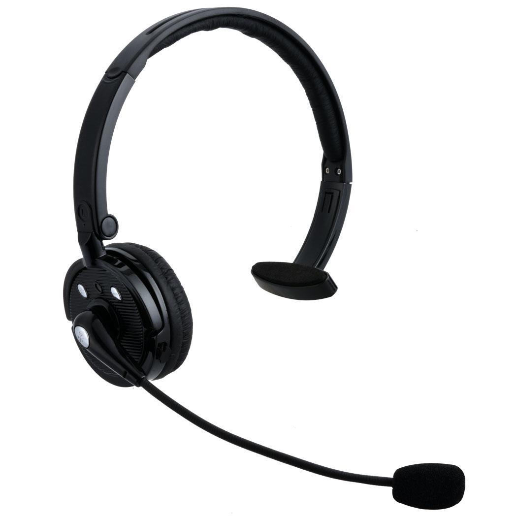 wireless bluetooth headsets stereo headband headphone office black top work b20e ebay. Black Bedroom Furniture Sets. Home Design Ideas