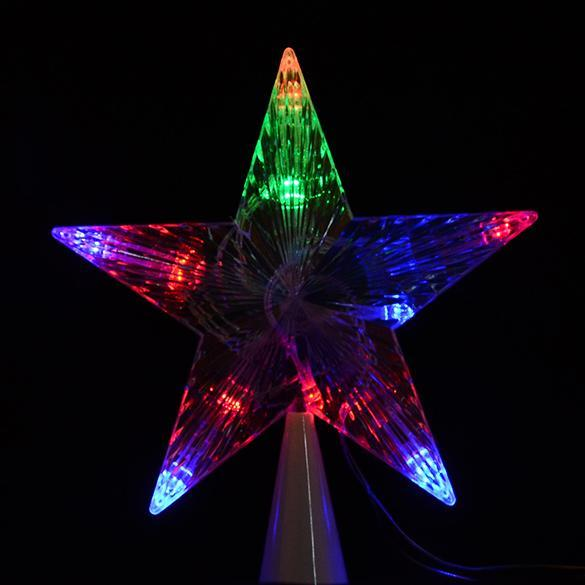 Christmas tree topper star lamp multi color fairy for Decoration exterieur led