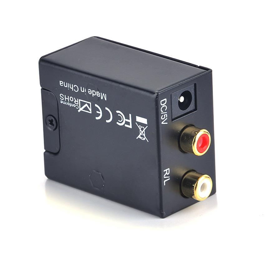 digital optical toslink coax to analog l r rca audio converter adapter cable is ebay. Black Bedroom Furniture Sets. Home Design Ideas