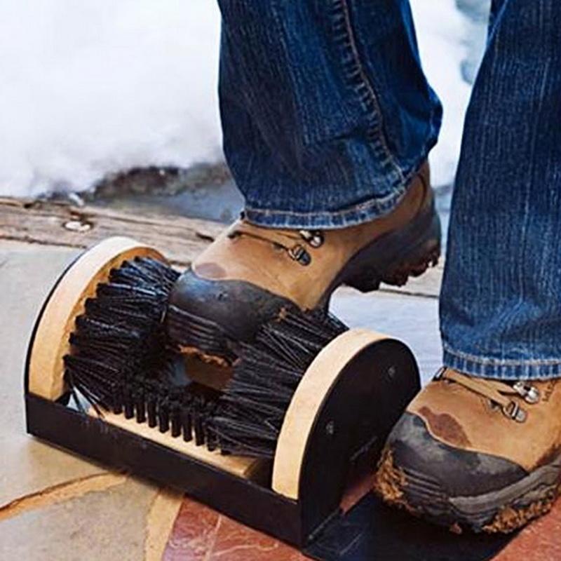 boot shoe sneaker floor mounted mud dirt brush cleaner