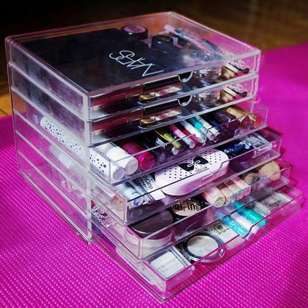 Holder Makeup Case Drawers Cosmetic Organizer Jewelry Storage Acrylic Stand Box   eBay