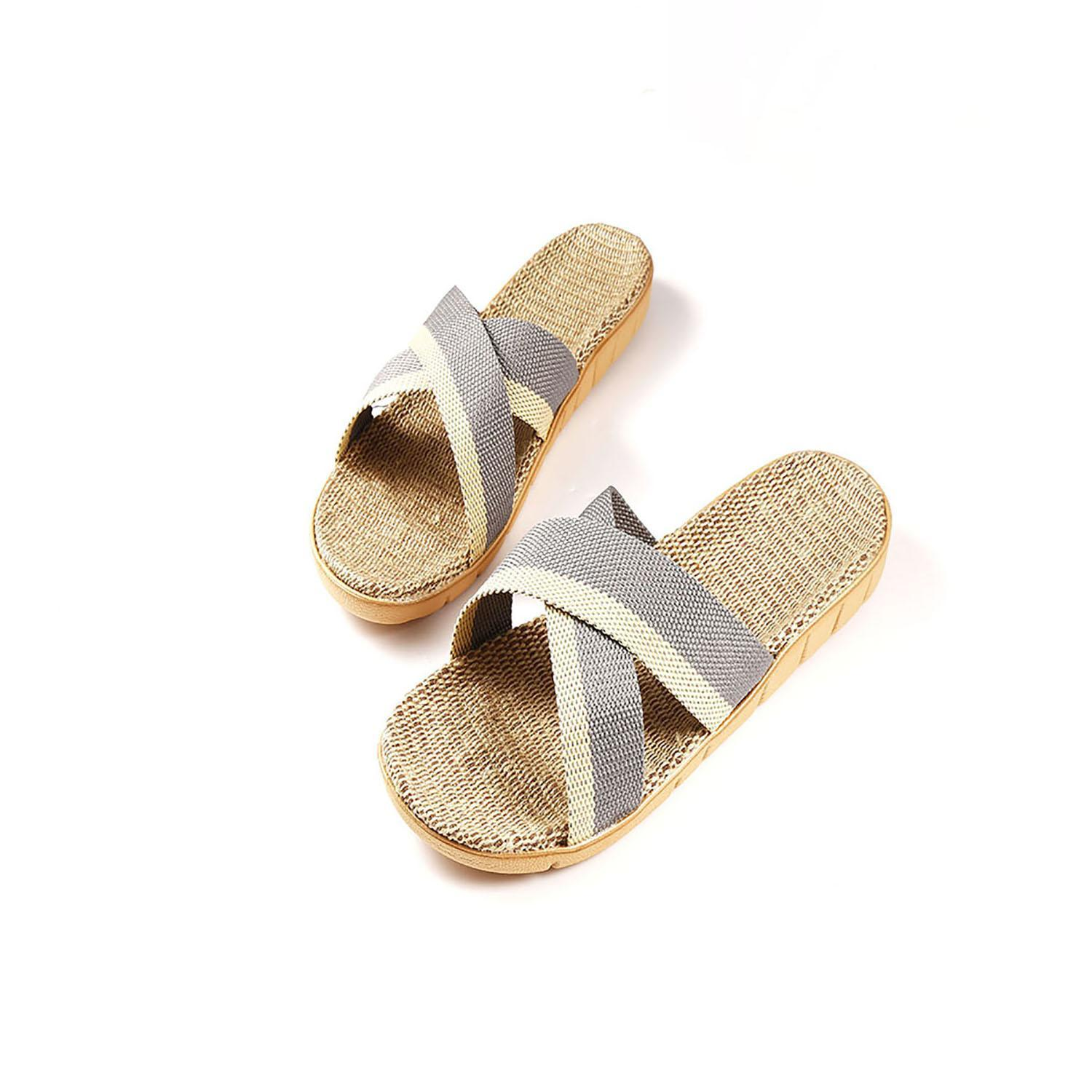 Summer Men Flip Flop Non-Slip Flat Sandals Home Slippers ...
