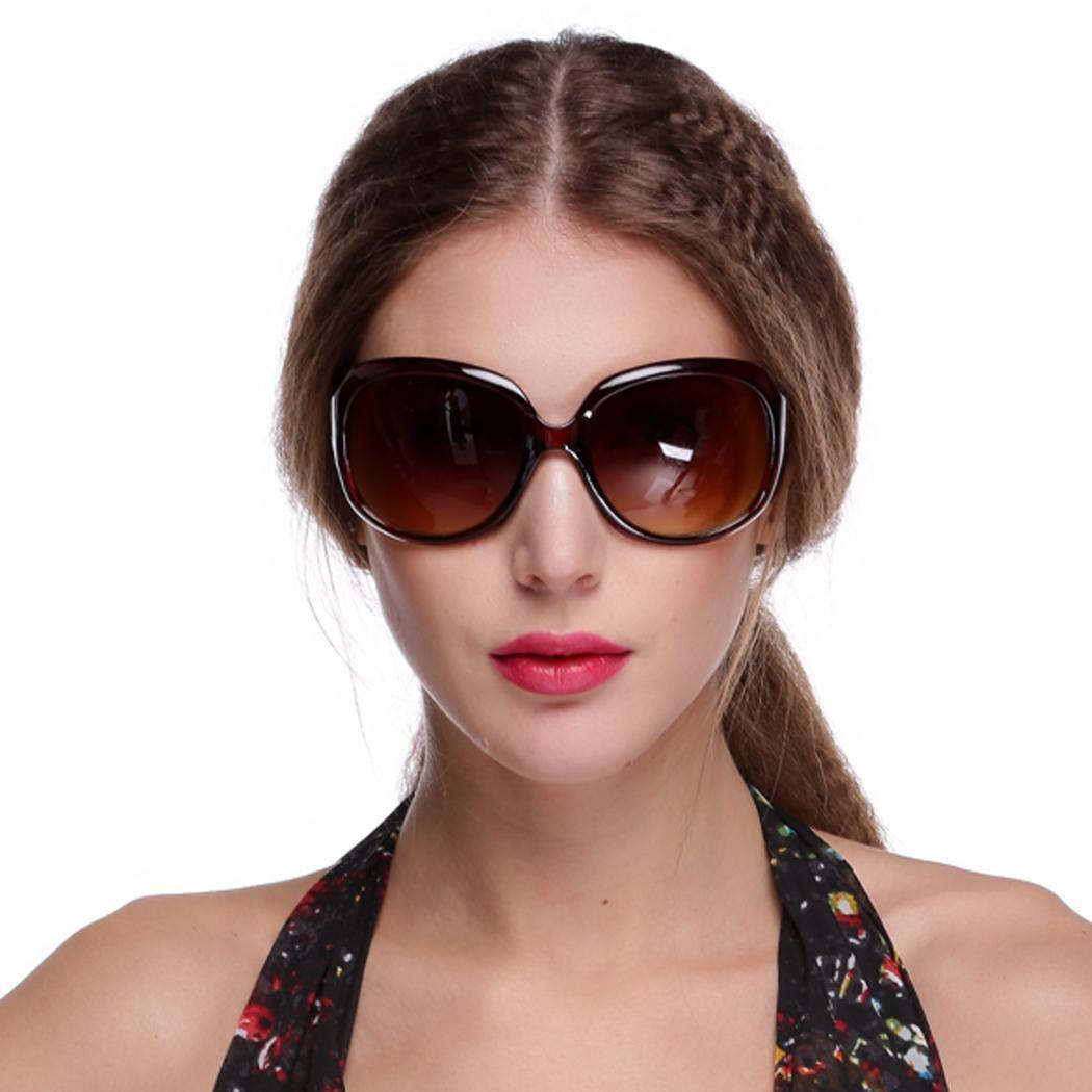 sunglasses fashion  Sunweb Retro Oversized Women Sunglasses (Brown)