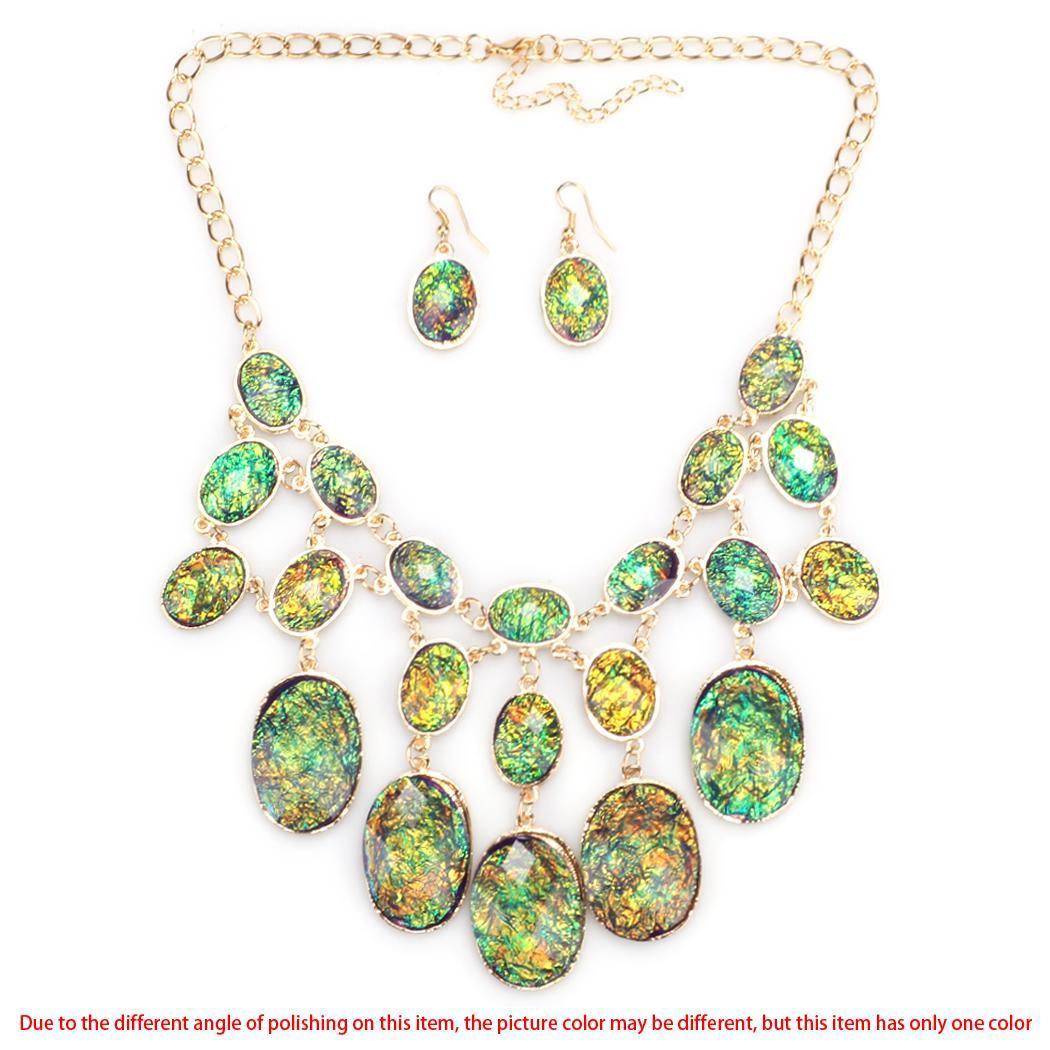 Cyber European Style Women Lady Fashion Jewelry Set Oval