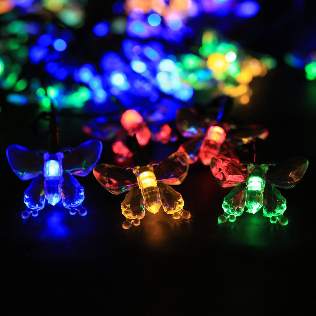 Cyber Solar Powered 40 LED String Lights for Room Garden Home Christmas Birthday Party ...