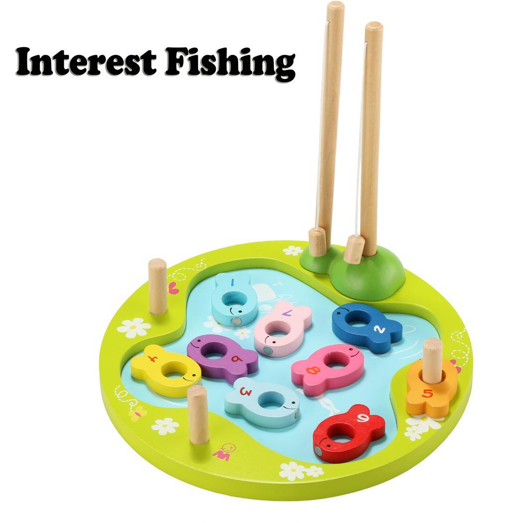 Arshiner children popular high quality multicolor wood for Fishing toy set