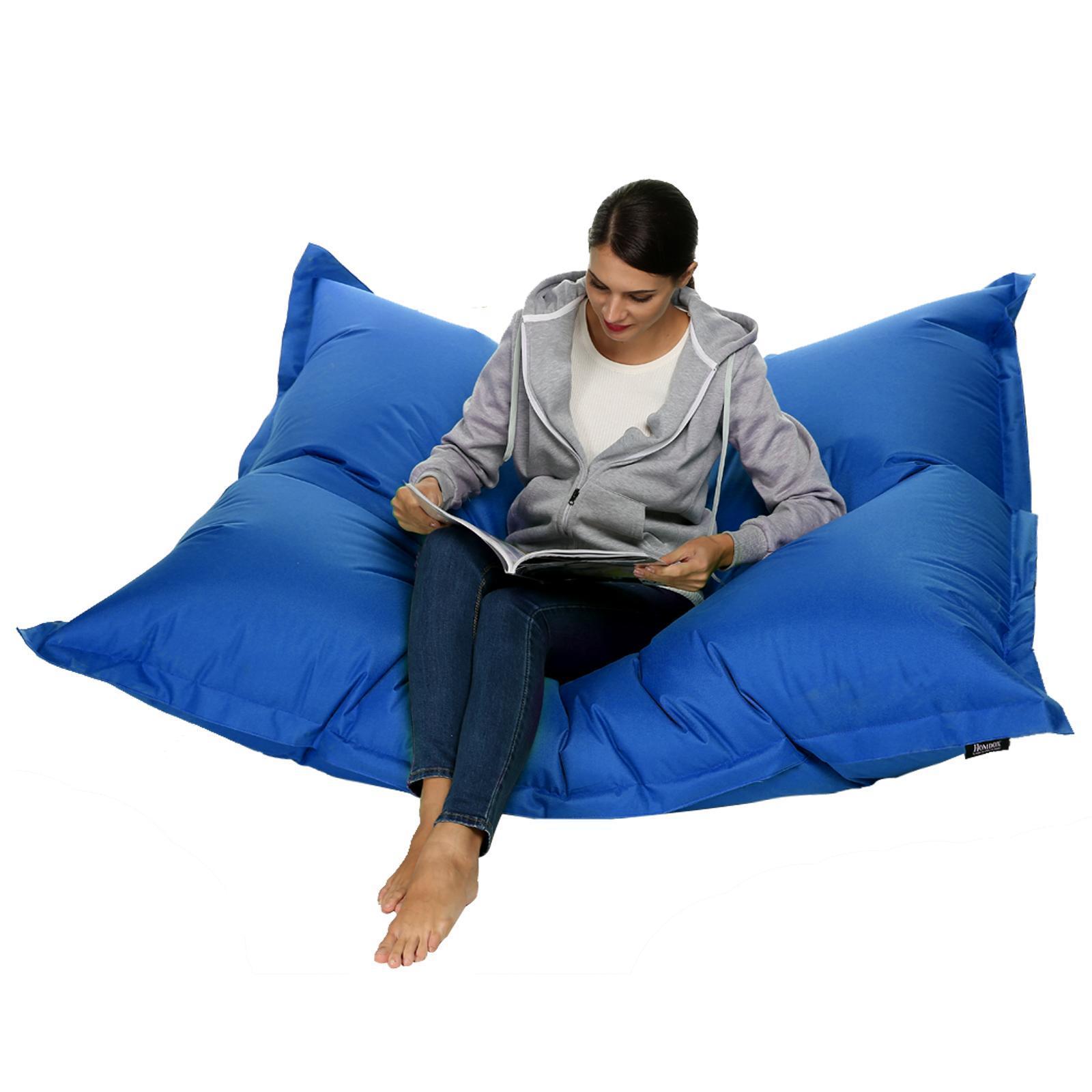Hot XXL Adult Bean Bag Water Resistant Beanbag Lounger Gamer Cushion Outdoor