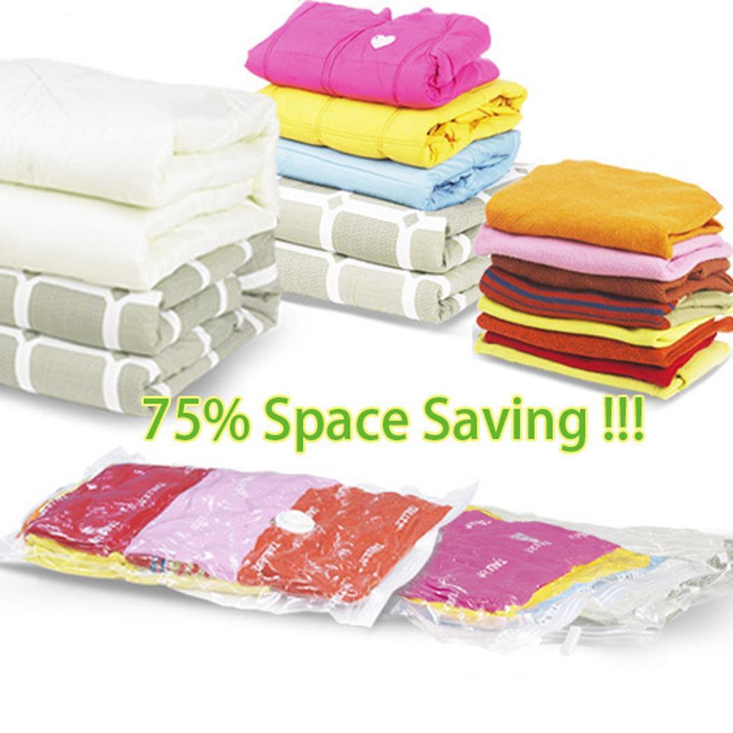 6 x jumbo vacuum seal garment bags space saver saving. Black Bedroom Furniture Sets. Home Design Ideas