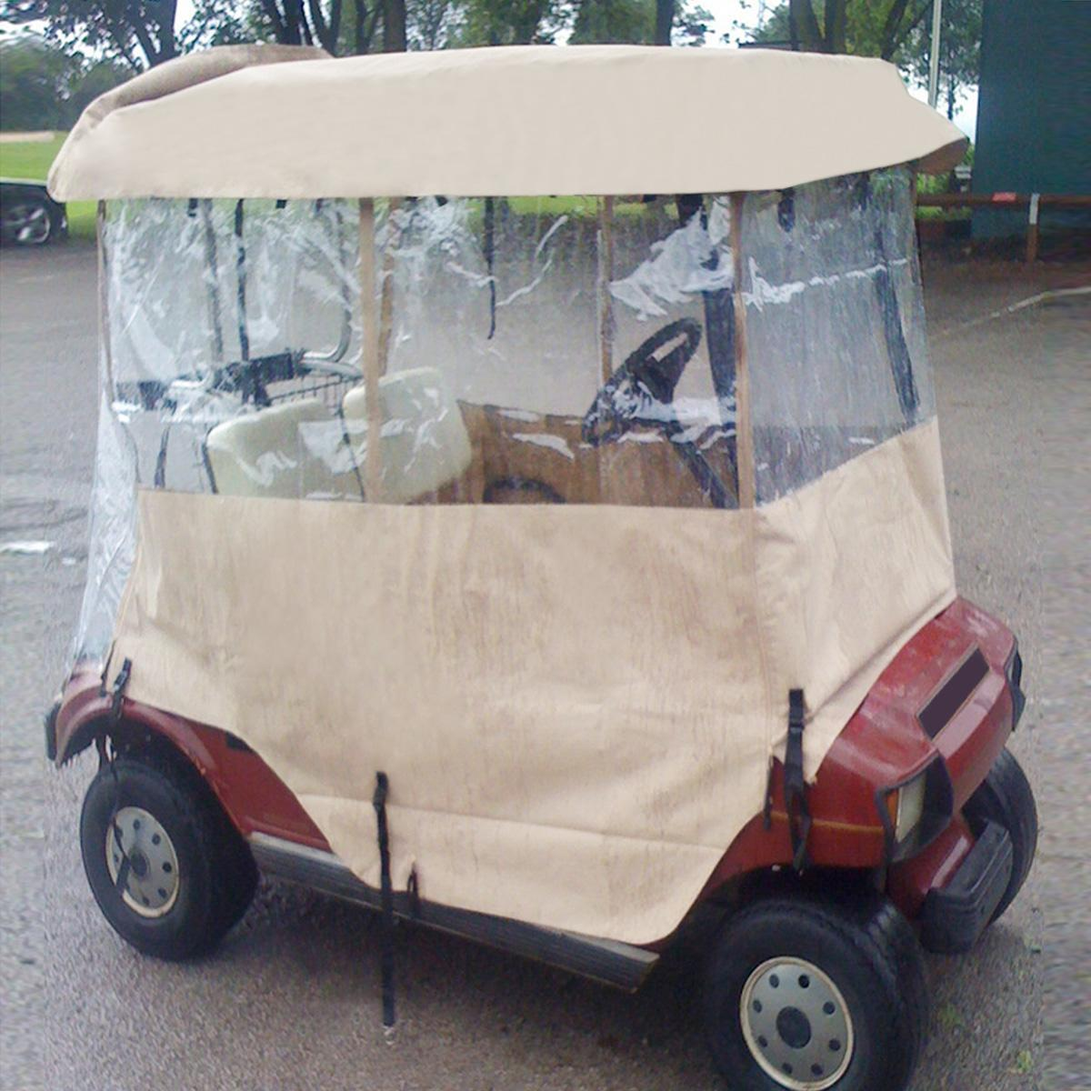 2 Passenger Driving Enclosure Golf Cart Cover.Fit For EZ