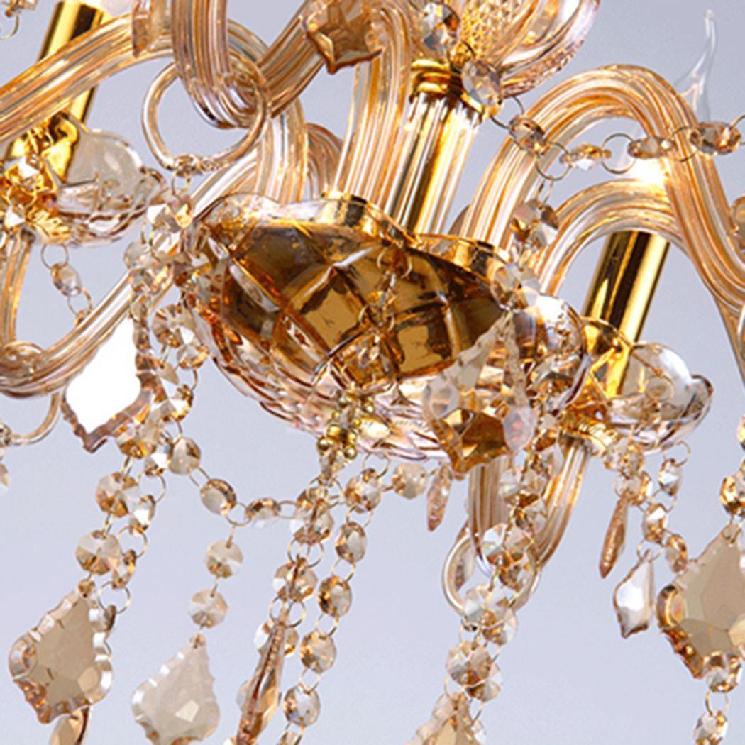 Euro Chandelier Lighting: Homdox European 6 Light Crystal Chandeliers Ceiling Lamp