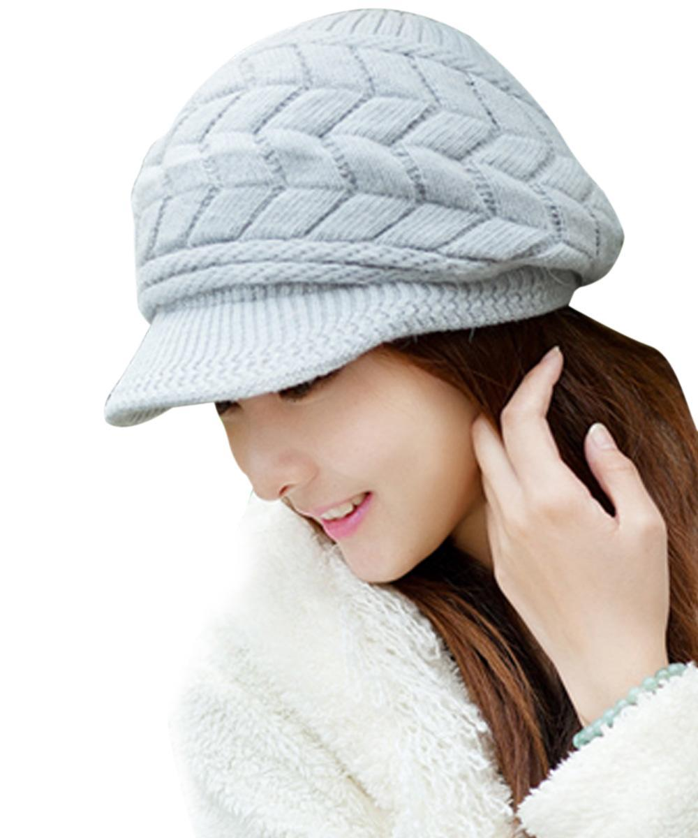 Cyber Womens Autumn Winter Knitted Cap Knitted Hat Double Layer Thermal Laz...