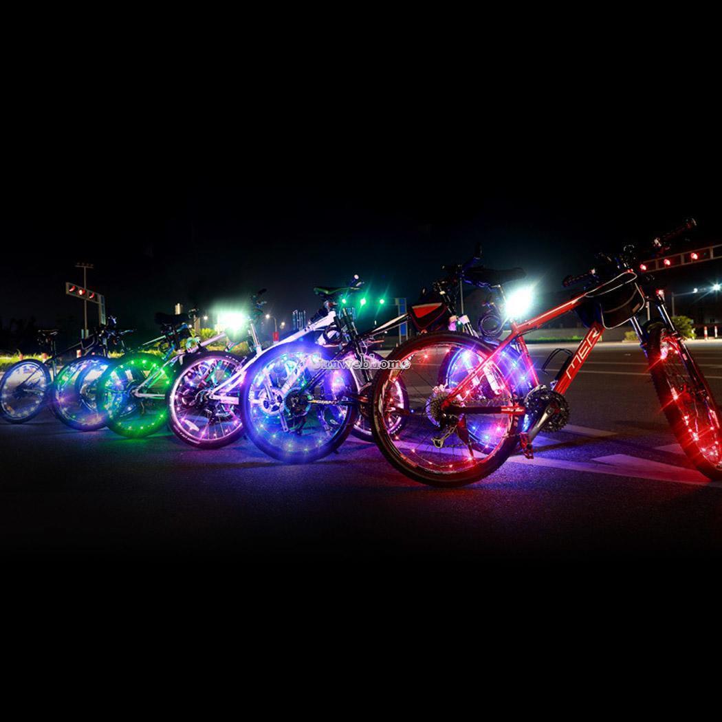 Wire Rope Light Flashing Spoke 20 LED Wheel Light Bicycle ...