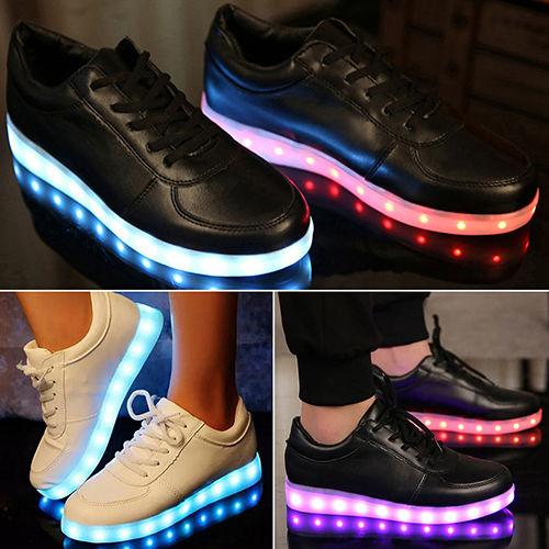 unisex farbwechsel led licht leuchtenden schuhe sneaker. Black Bedroom Furniture Sets. Home Design Ideas