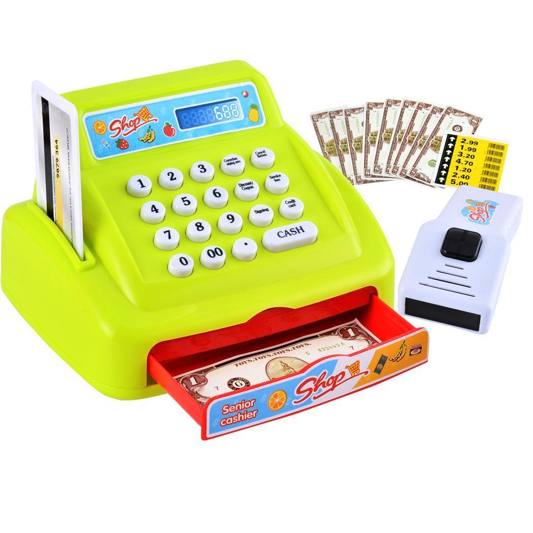 Toy supermarket cash baby shopping cashier toy set plastic 26pcs n4u8