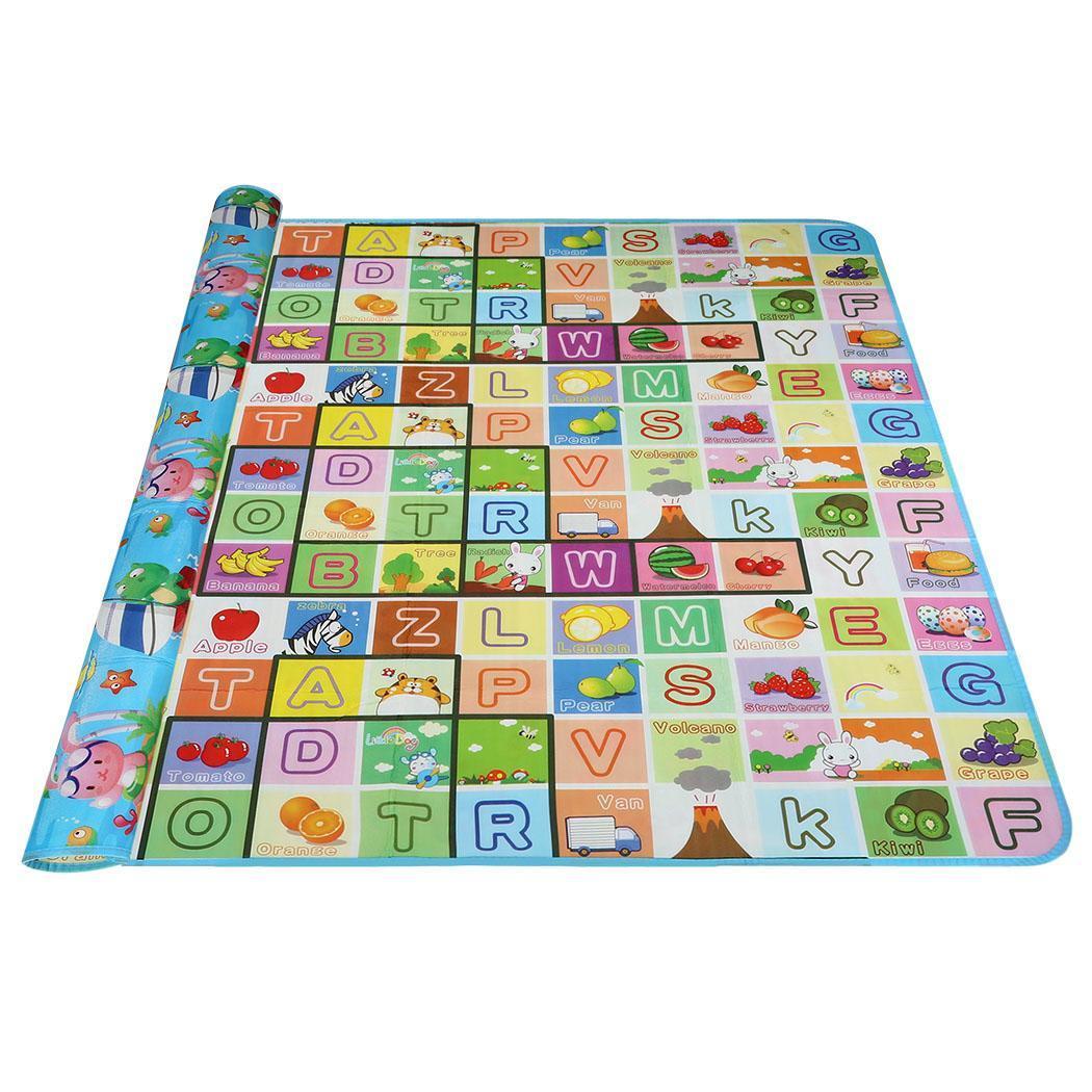 Hot Baby Kid Toddler Crawl Play Game Picnic Carpet Letter