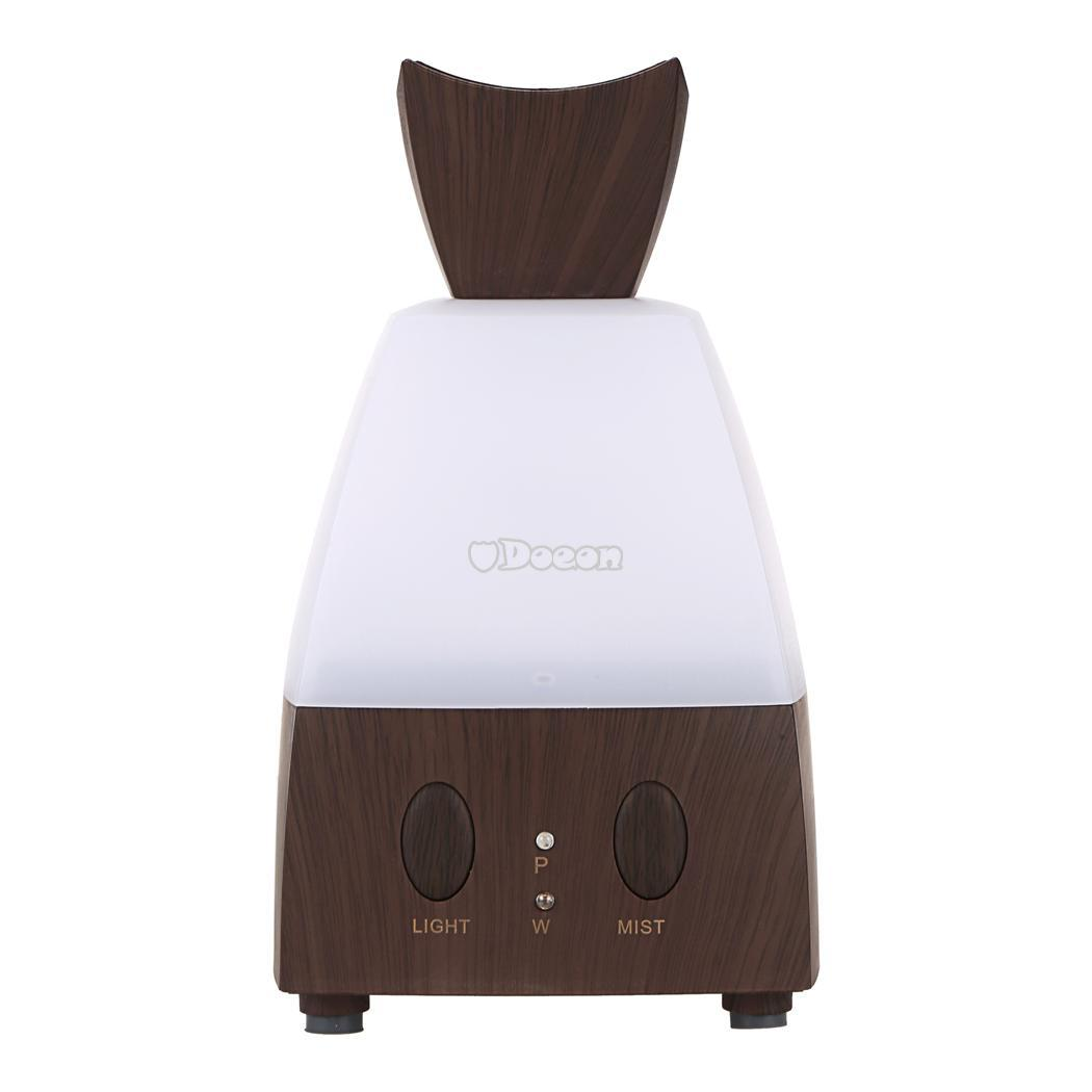 Electric Diffuser Cool Mist Humidifier LED Light Color Adjustable #46332E