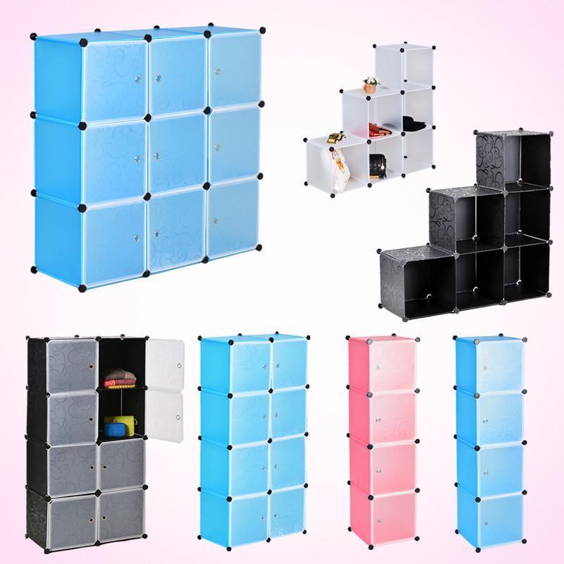Armario Suspenso Escritorio ~ Armario Encajable Cubo Caja Organizador De Almacenamiento con puertas