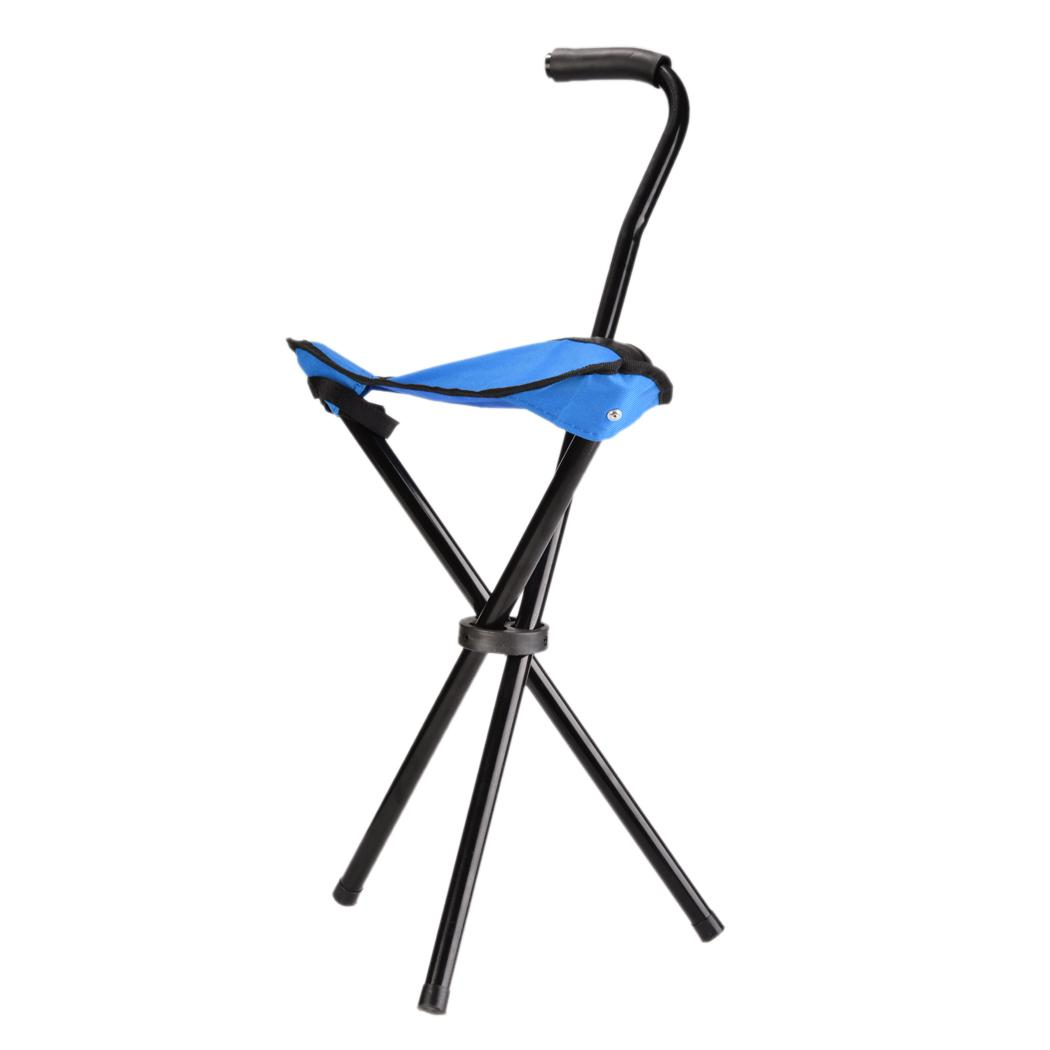 Heavy Duty Portable Walking Stick Cane Chair Travel Camp
