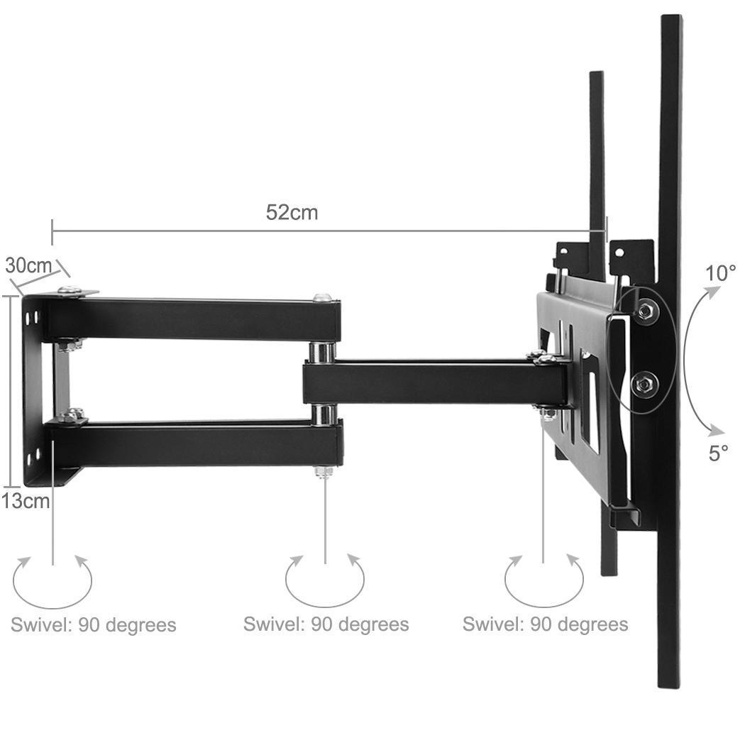 dual arm tv wall mount swivel tilt lcd led 32