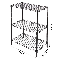 practical steel adjustable wire shelving shelves 3 tier. Black Bedroom Furniture Sets. Home Design Ideas