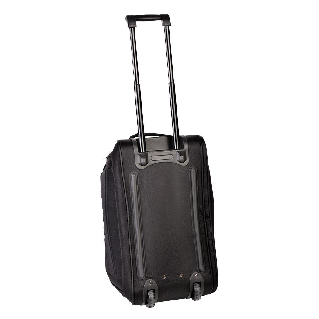 55l large black gym bag rolling wheeled carry on tote luggage duffle mens womens ebay. Black Bedroom Furniture Sets. Home Design Ideas